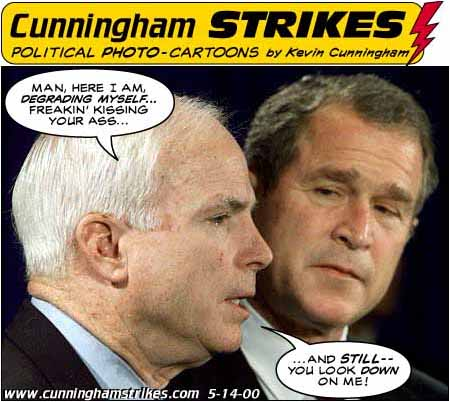 McCain and Bush, cartoon